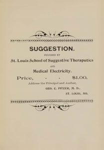 Suggestion in the cure of diseases and the correction of vices Pitzer, Geo. C. (George Calvin), 1835-1909